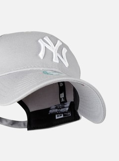 New Era - 9Forty League Basic NY Yankees, Grey/White 4