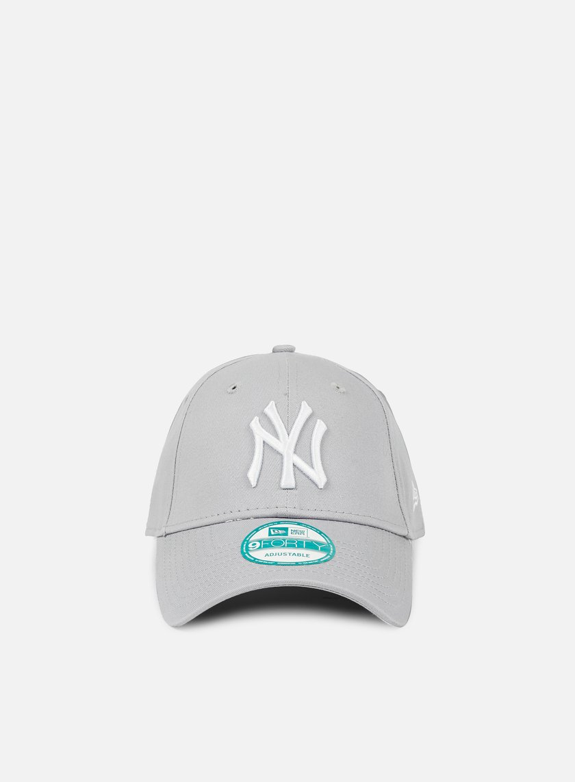 New Era - 9Forty League Basic NY Yankees, Grey/White