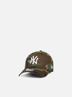 New Era - 9Forty MLB League Essential Strapback NY Yankees, Woodland Camo 1