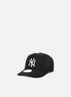New Era - Aframe Perforated Poly Snapback NY Yankees, Black 1
