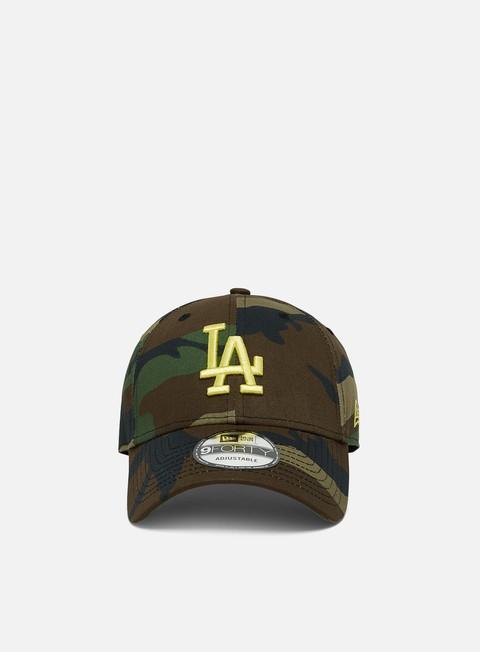 Outlet e Saldi Cappellini Visiera Curva New Era All Over Camo 9Forty Strapback LA Dodgers