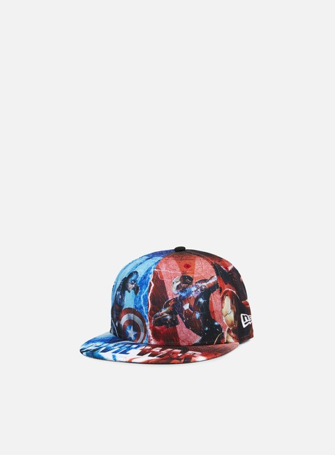 Sale Outlet True Fitted Caps New Era All Over Print Civil War