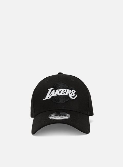 Outlet e Saldi Cappellini Visiera Curva New Era Black Base 9Forty Snapback LA Lakers