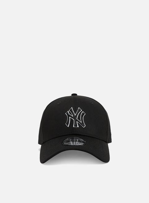 Curved Brim Caps New Era Black Base 9Forty Snapback NY Yankees
