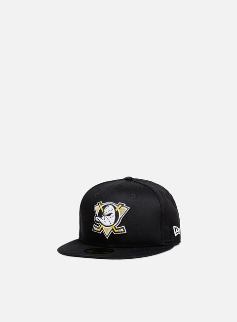 Outlet e Saldi Cappellini True Fitted New Era Black Base Fitted Anaheim Amigos
