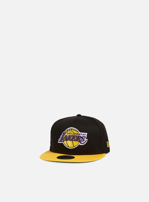 cappellini new era black base snapback la lakers team colors