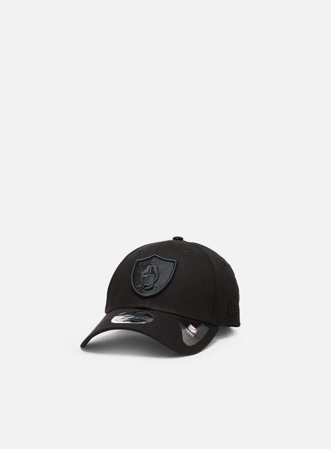 Outlet e Saldi Cappellini Visiera Curva New Era Black On Black 9Forty Snapback Las Vegas Raiders