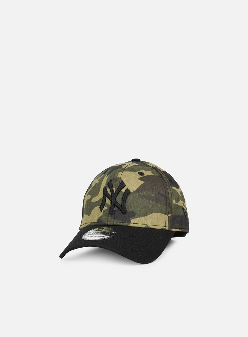 New Era - Camo 39Thirty NY Yankees, Woodland Camo/Black