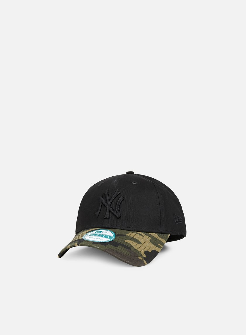 New Era - Camo 9Forty NY Yankees, Black/Woodland Camo