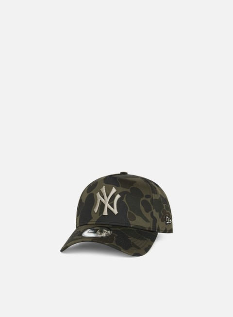Curved Brim Caps New Era Camo A Frame Snapback NY Yankees