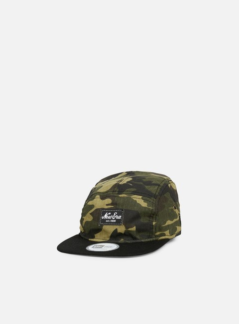 5 Panel Caps New Era Camo Camper