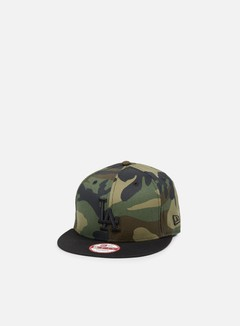 New Era - Camo Crown Snapback LA Dodgers, Woodland Camo/Black