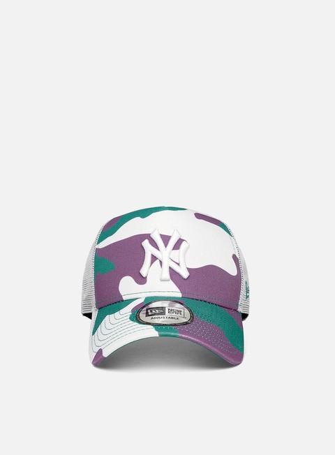 Outlet e Saldi Cappellini con visiera New Era Camo Pack Trucker NY Yankees