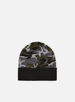 New Era - Camo Ribbed Cuff Beanie, Black Camo