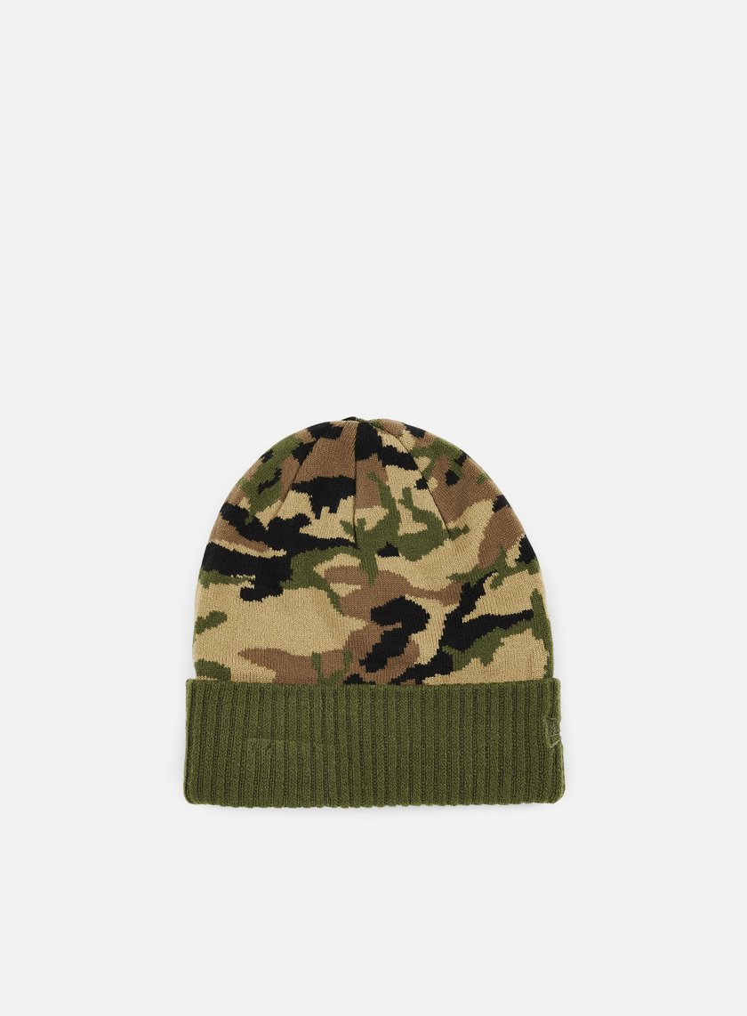 New Era - Camo Ribbed Cuff Beanie, Woodland Camo