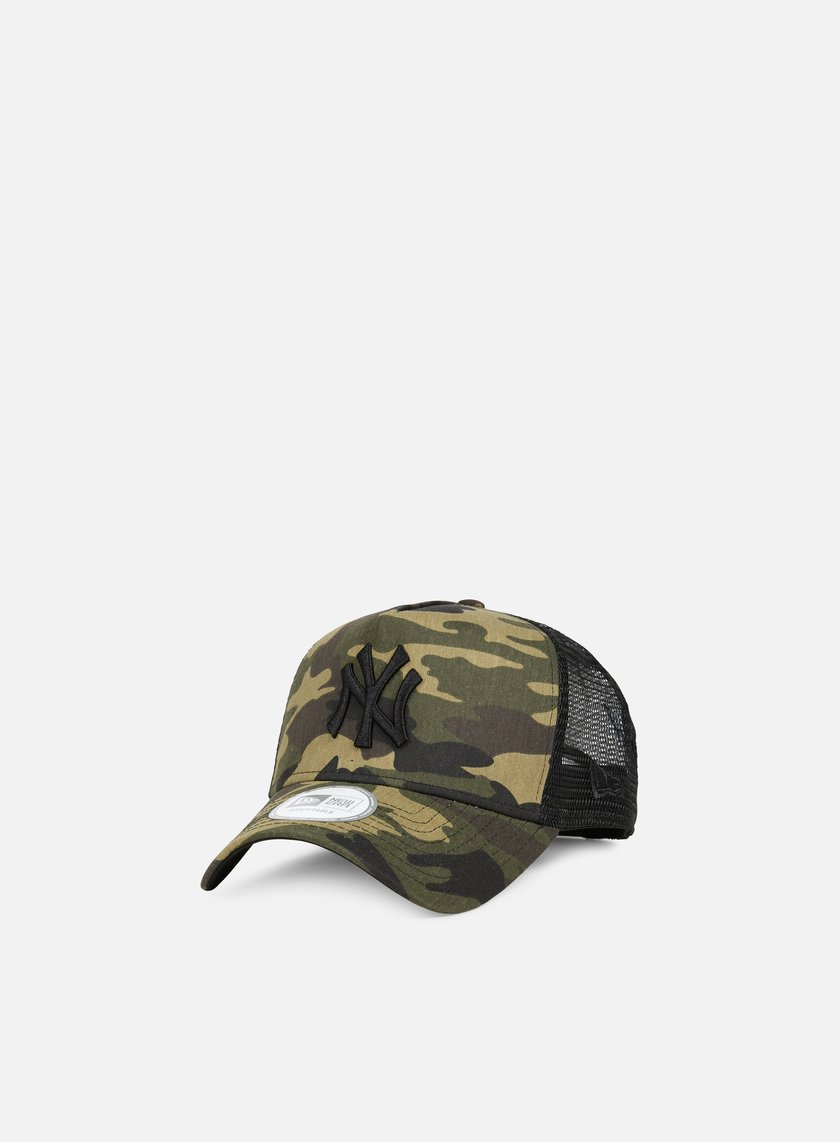 New Era - Camo Trucker NY Yankees, Woodland Camo