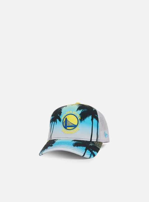 Outlet e Saldi Cappellini Visiera Curva New Era Coastal Heat Trucker Golden