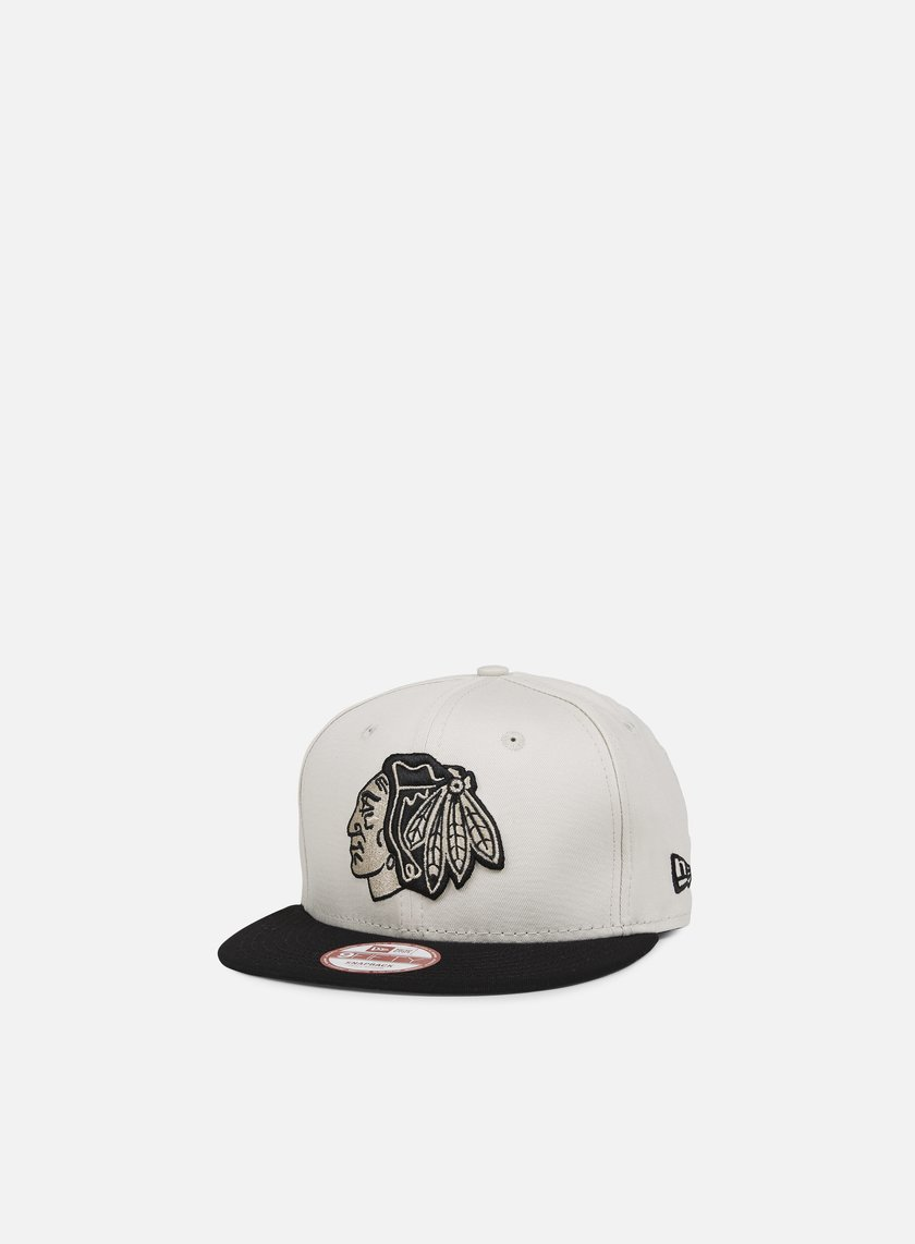 New Era - Contrast Seasonal Snapback Chicago Blackhawks, Stone/Black
