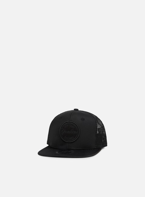 cappellini new era emblem ny yankees trucker black black