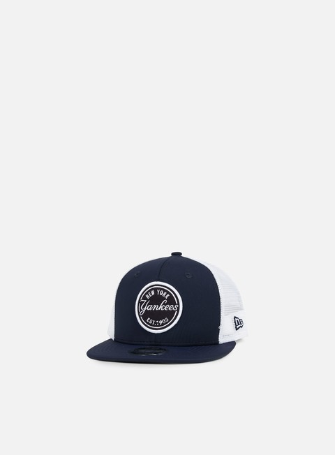 cappellini new era emblem ny yankees trucker navy white