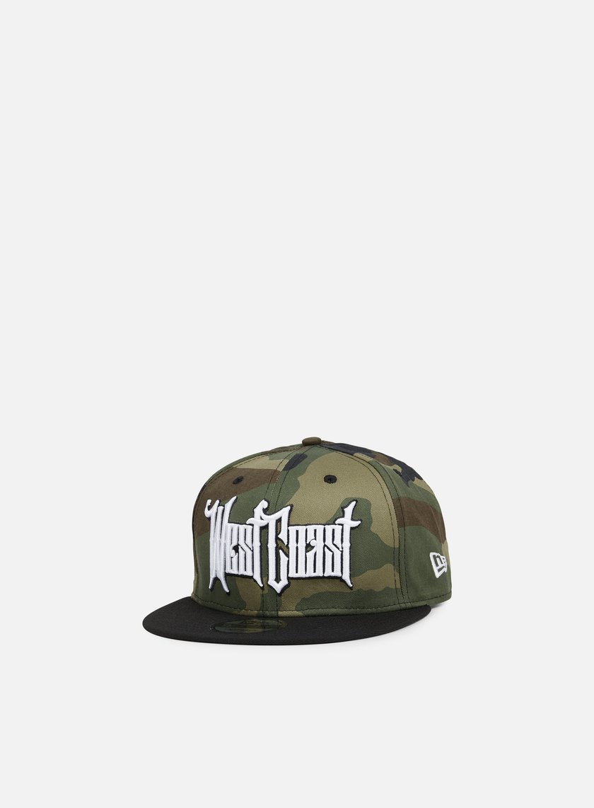 New Era - Emea West Coast Snapback, Woodland Camo/Black