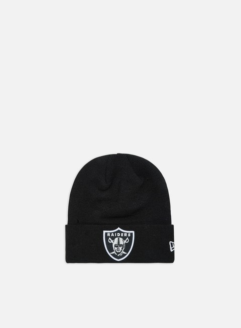 cappellini new era essential cuff beanie oakland raiders black