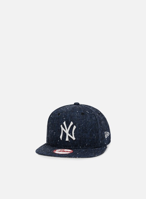 cappellini new era fleck tweed snapback ny yankees navy grey