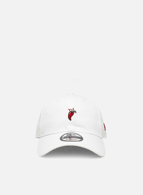 Curved Brim Caps New Era Food Icon 9Twenty Chilli Strapback