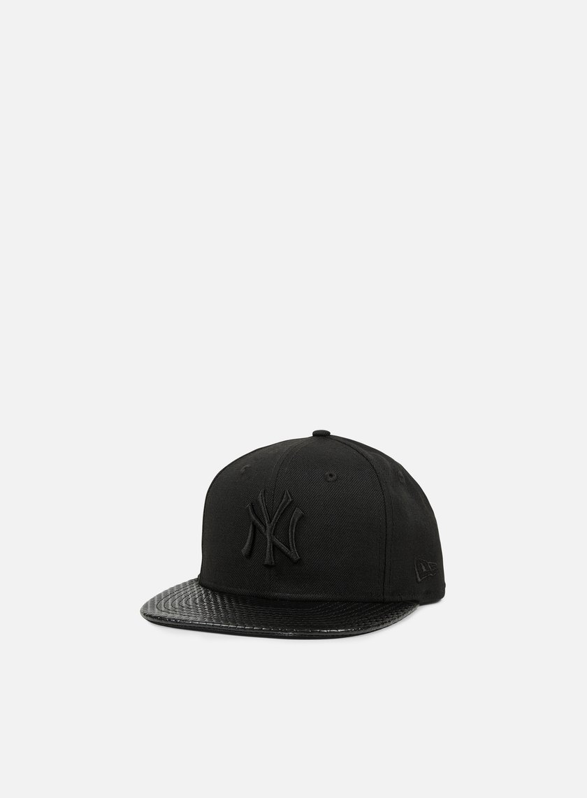 New Era - Geo Leather Snapback NY Yankees, Black/Black