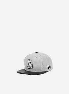 New Era - Heather Mix Snapback LA Dodgers, Heather Grey/Black 1