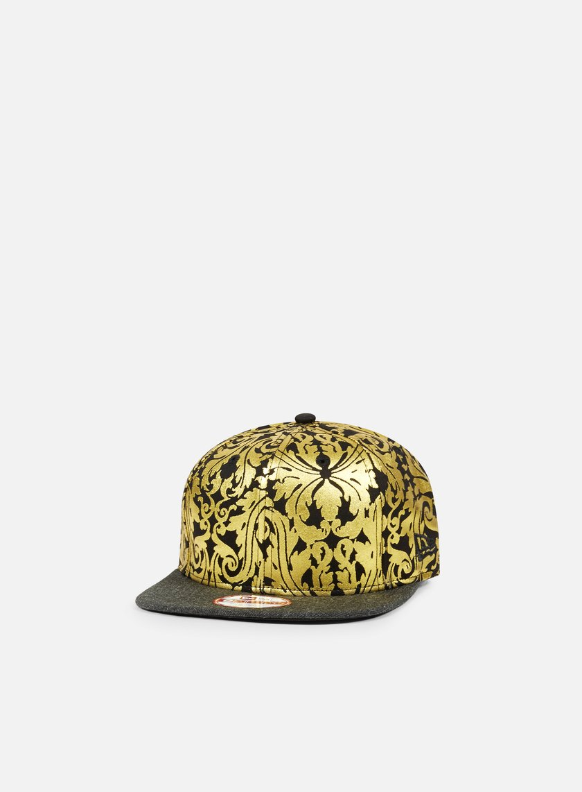New Era - Heather Print Strapback, Black/Gold