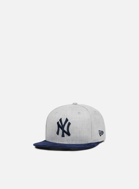 cappellini new era heather suede snapback ny yankees heather grey navy