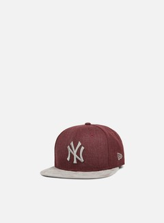 New Era - Heather Suede Snapback NY Yankees, Heather Maroon/Grey 1