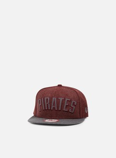 New Era - Heather Word Snapback Pittsburgh Pirates, Heather Maroon/Grey 1