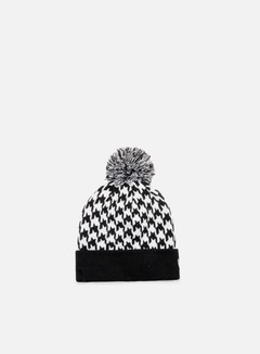 New Era - Houndstooth Bobble Beanie, Black/White 1