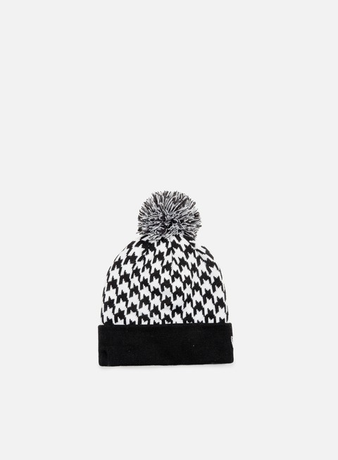 cappellini new era houndstooth bobble beanie black white