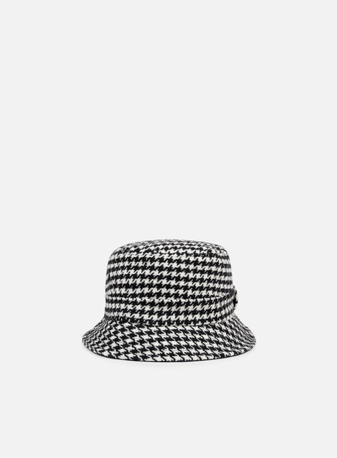 cappellini new era houndstooth bucket black white