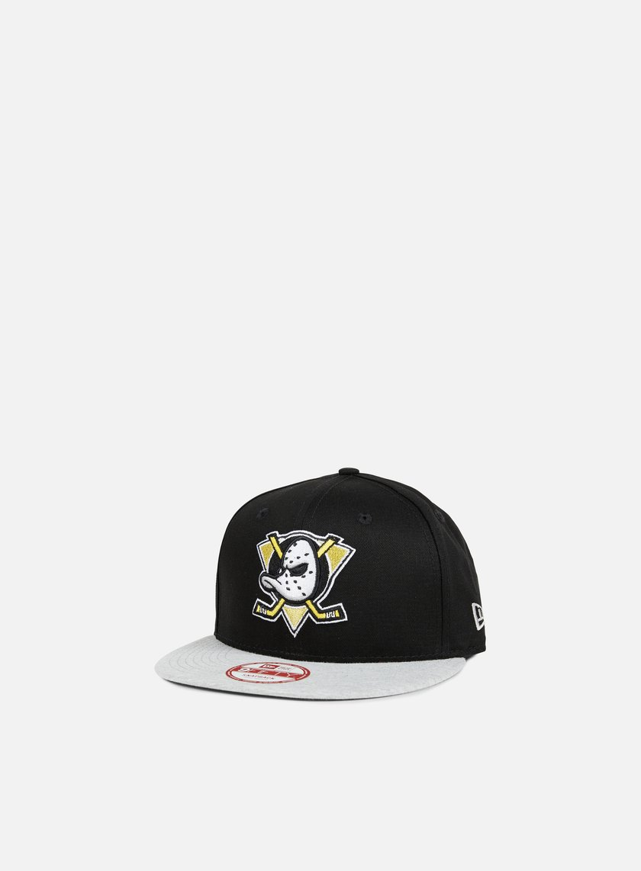 New Era - Jersey Team Snapback Anaheim Ducks, Black/Grey