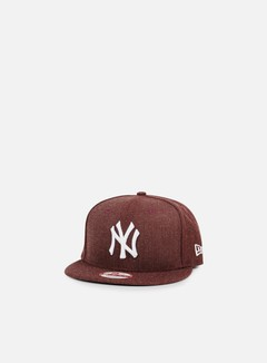 New Era - League Basic Snapback NY Yankees, Heather Maroon