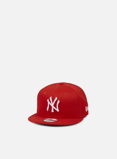 New Era - League Basic Snapback NY Yankees, Hot Red