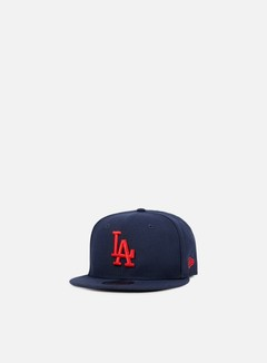 New Era - League Essential 9Fifty Snapback LA Dodgers, Night Shift Navy/Hot Red