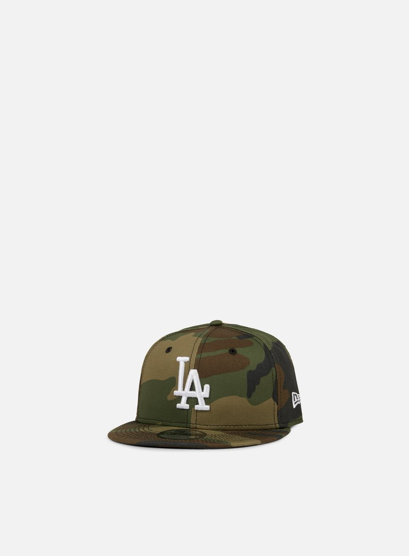 New Era - League Essential 9Fifty Snapback LA Dodgers, Woodland Camo/White