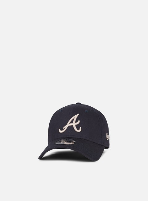Curved Brim Caps New Era League Essential 9Forty Strapback Atlanta Braves