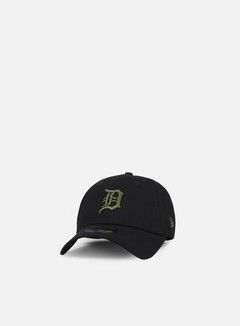 New Era - League Essential 9Forty Strapback Detroit Tigers, Black/Olive Green 1