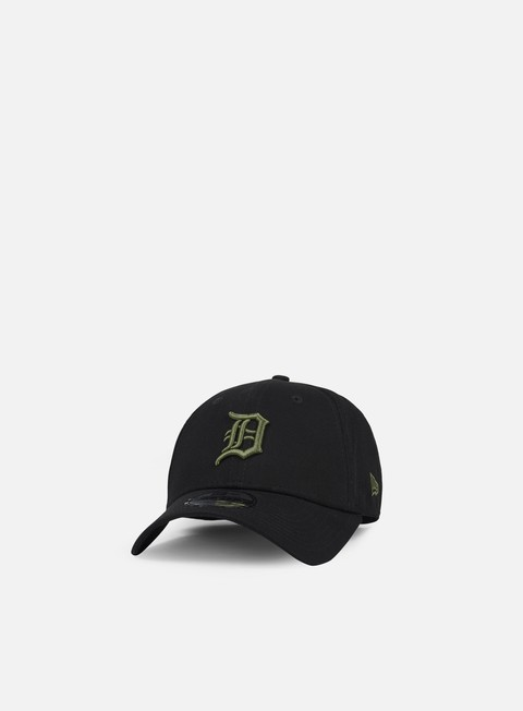 cappellini new era league essential 9forty strapback detroit tigers black olive green