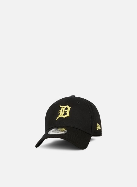 Curved Brim Caps New Era League Essential 9Forty Strapback Detroit Tigers