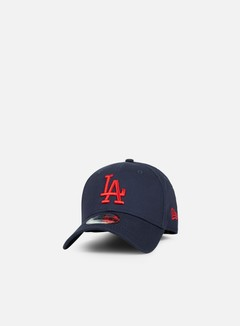 New Era - League Essential 9Forty Strapback LA Dodgers, Night Shift Navy/Hot Red 1