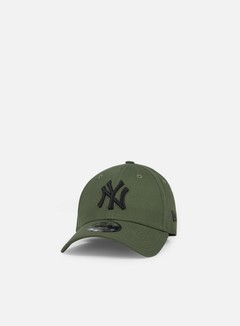New Era - League Essential 9Forty Strapback NY Yankees, Olive Green/Black
