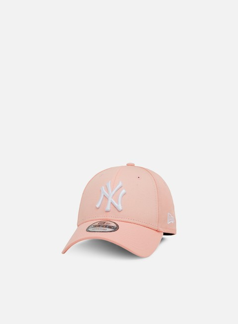 cappellini new era league essential 9forty strapback ny yankees pink white