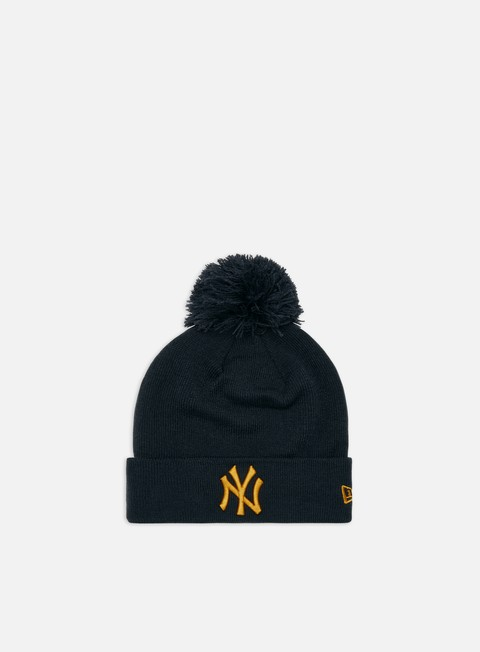 Outlet e Saldi Cuffie New Era League Essential Bobble Cuff Knit Beanie NY Yankees